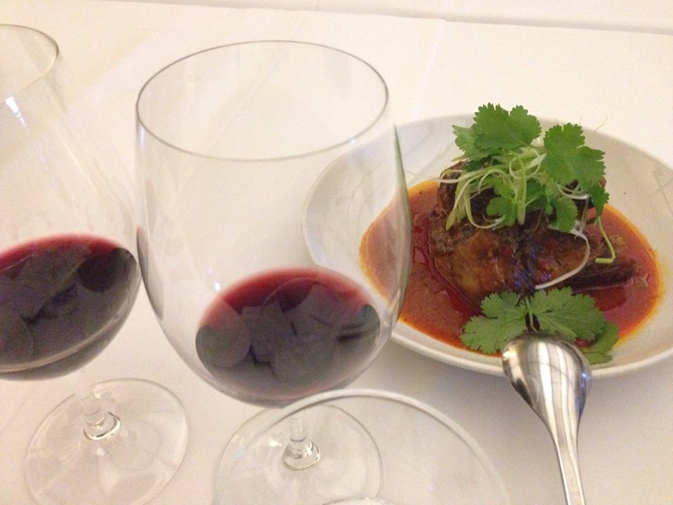 Szetchuan Lamb with Greek reds just delicious