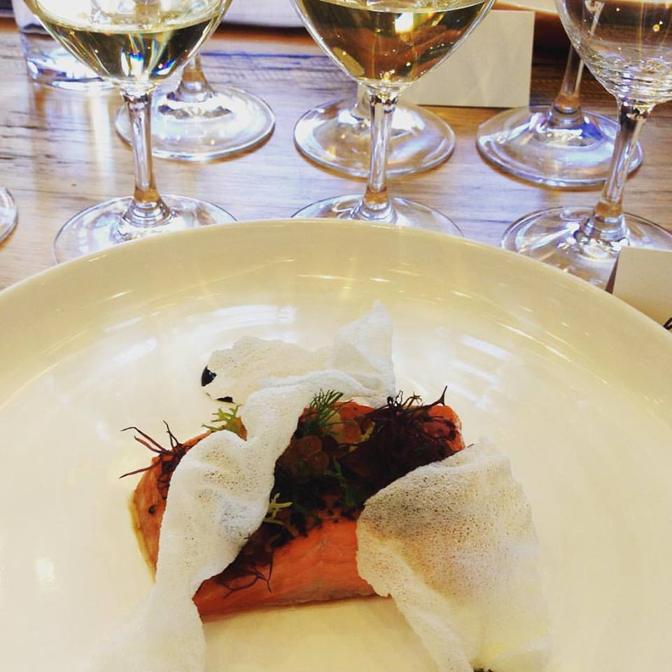 Tasmanian trout paired with Assyrtikos from Santorini and Clare Valley
